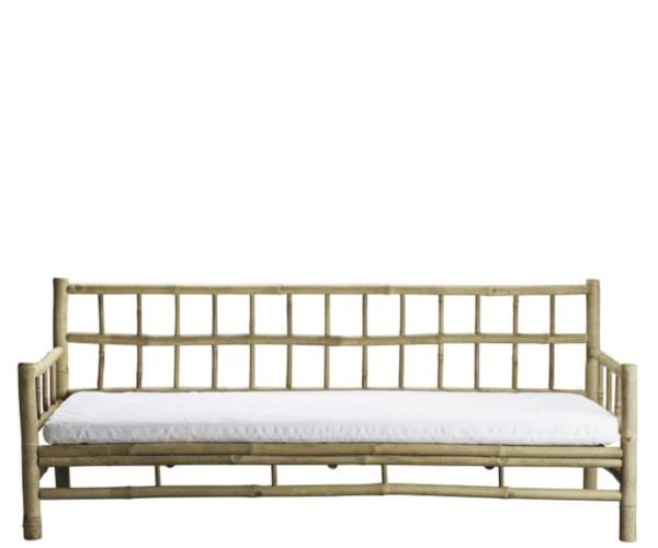 tine k home bambus loungesofa hvid hynde