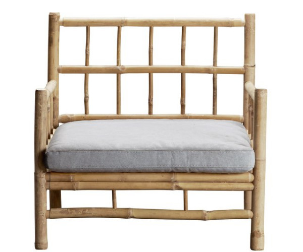 tine k home bambus loungestol grå hynde