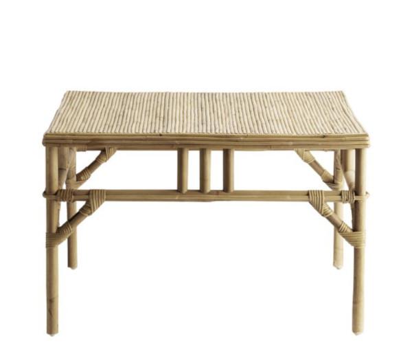 ne K bambus rattan loungebord sofabord