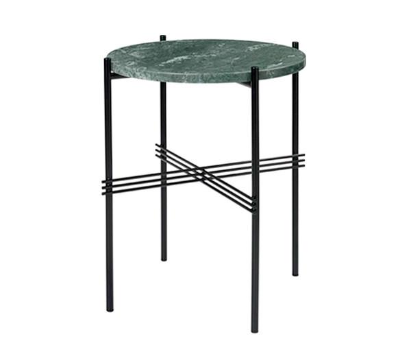 Gubi TS Side Table - Grøn Marmor - Ø40 cm.
