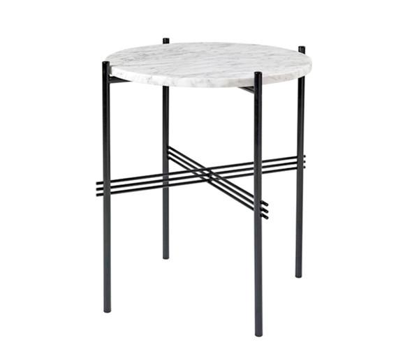 Gubi TS Side Table - Hvid Marmor - Ø40 cm.