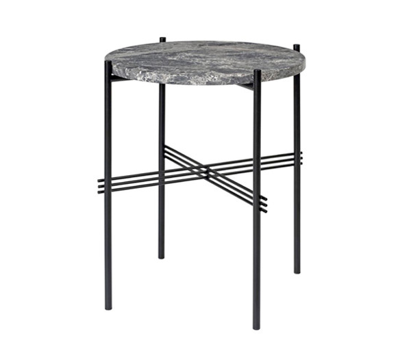 Gubi TS Side Table - Grå Marmor - Ø40 cm.