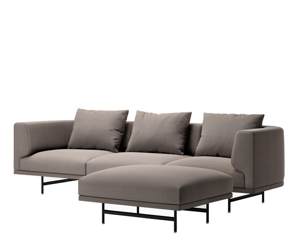 Vipp 632 Chimney sofa - 3 Personers + Pouf - Steelcut Trio 253