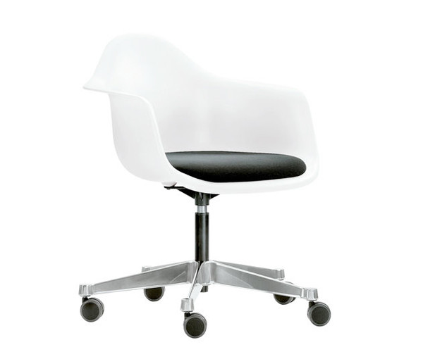 Vitra Eames PACC Kontorstol - Hvid - Sort Hopsak Stof Sæde