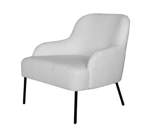 Ygg&Lyng Vika Lounge Chair - Karakorum - Ivory 001