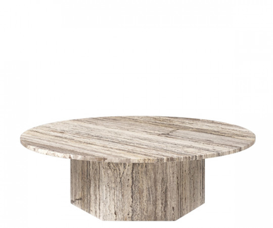 Gubi Epic Sofabord - Grå Travertine - Dia.110cm