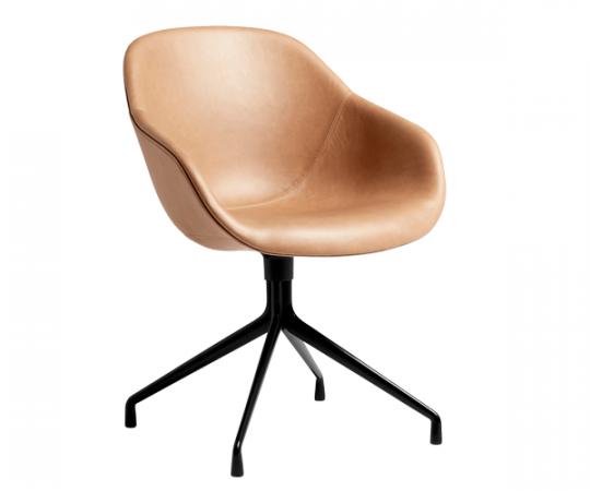 HAY About A Chair (AAC121) - Cognac Læder - Sort Drejestel