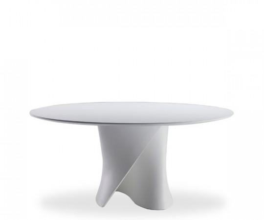 Mdf Italia S Table White - bordplade str Ø126 cm i white wood