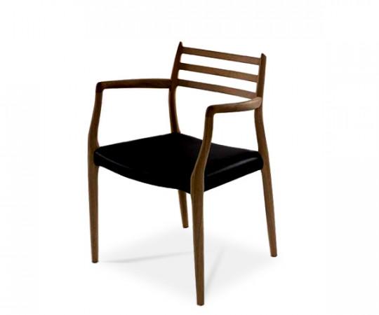 J L møller no 62 stol mørk eg