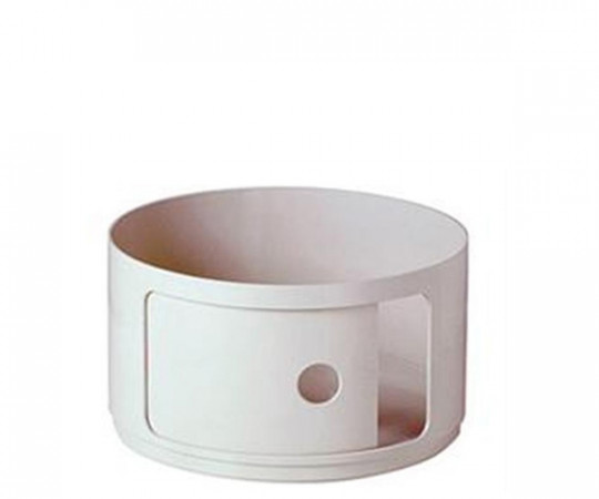 Kartell Componibili Low Element Round - Hvid