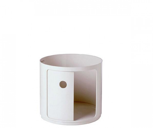 Kartell Componibili High Element Round - Hvid