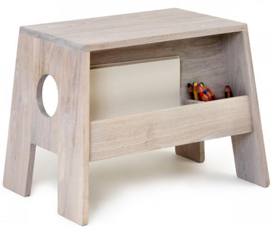 Collect Furniture Stoolesk Hvid/Olie