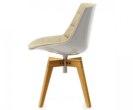 Mdf Italia Flow Chair Wood Frontpolstret