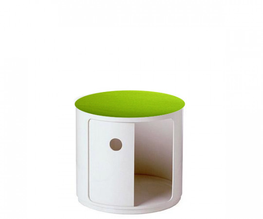 Kartell Componibili High Element Round + Låg Inkl. filt-top