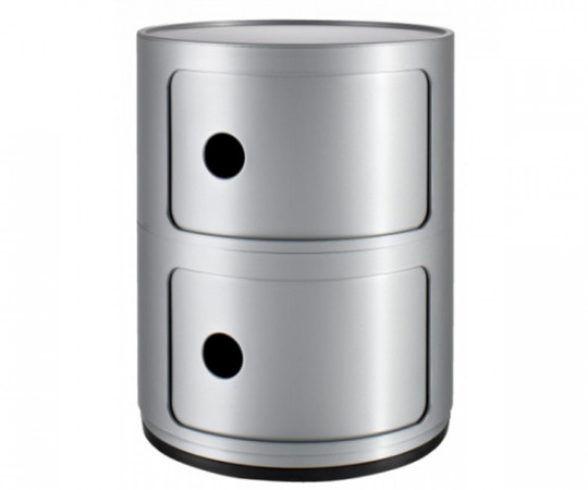 Kartell Componibili 2 Rum Silver