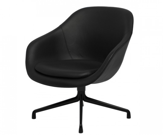 HAY About a Lounge Chair Low (AAL81) Sort Læder