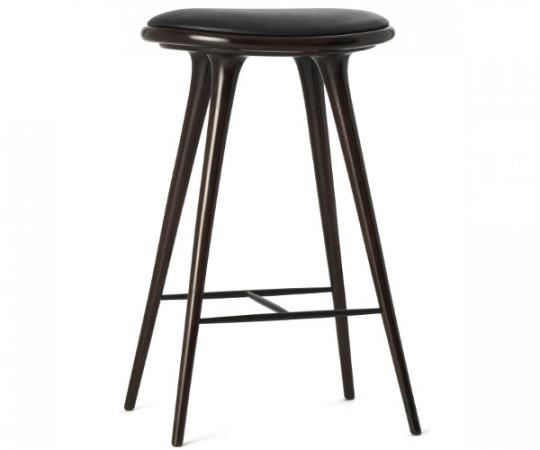 Mater barstol mørk bøg - H: 74cm