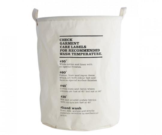 House Doctor Laundry Bag - Wash Instructions - Vasketøjskurv