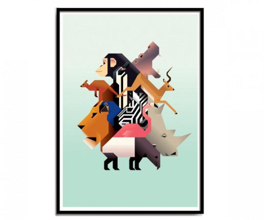 Martin Schwartz Zoo A3 Poster