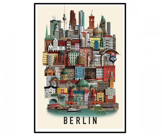 Martin Schwartz Berlin 50x70cm Poster