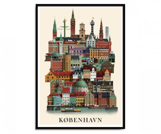Martin Schwartz København 50x70cm Poster