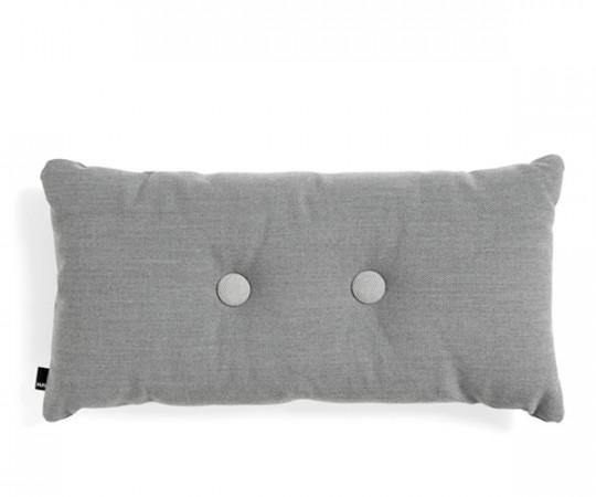 hay pude med 2 knapper mørk grå