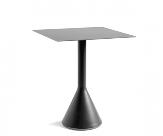 HAY Palissade Cone Table - 65x65cm. - Anthracite