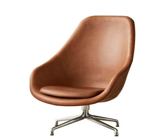 HAY About a Lounge Chair (AAL91) - Silk Cognac Læder