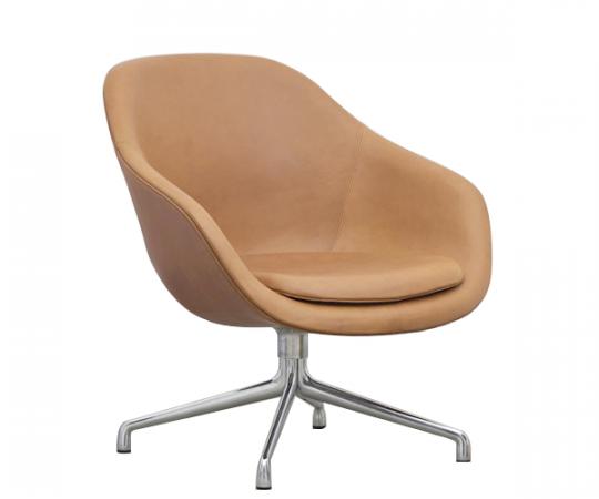 HAY About A Lounge Chair (AAL81) - Cognac Silk Læder - Alu.