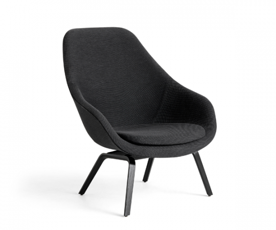 HAY About a Lounge Chair (AAL93) -  Dot 1682 03 Anthracite