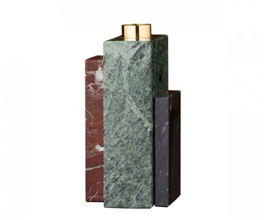AYTM Frustum Marmor Lysestage - høj