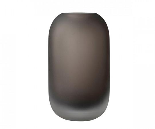 AYTM Hydria Glas Vase - Low - Valnød