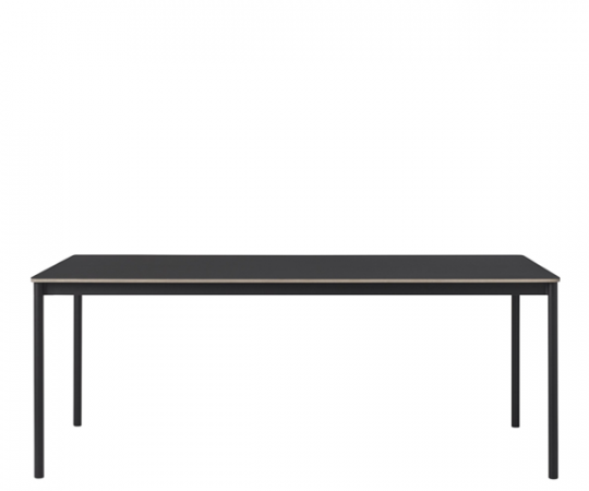 Muuto Base Table - 250x110cm - Sort Linolium