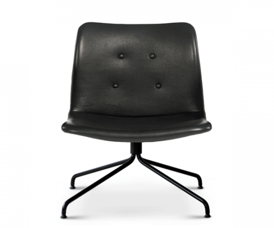 Bent Hansen Primum Lounge Stol - Sort Zenso 2 Læder - Sort Stel