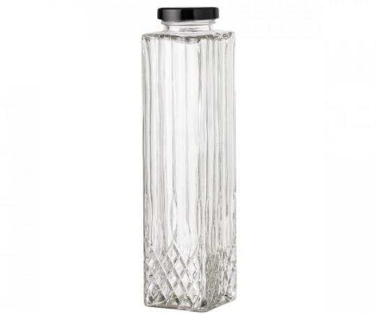 bloomingville firkantet glasflaske med låg