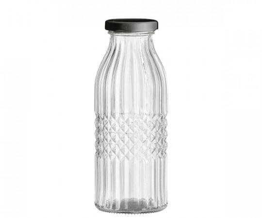 bloomingville rund glasflaske med låg