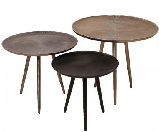 moon tables runde alu borde