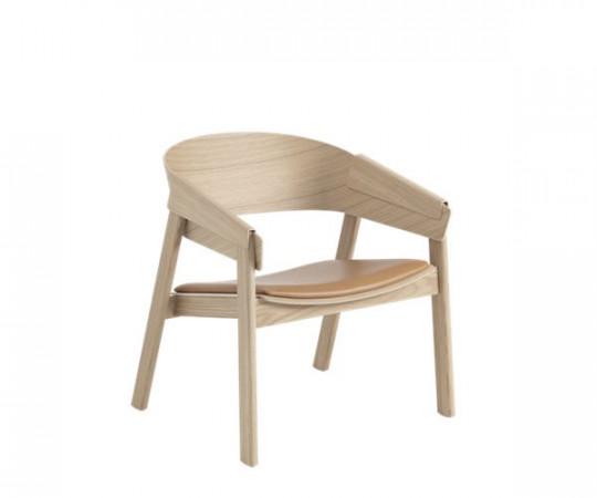 Muuto Cover Lounge Chair - Eg Med Cognac Læder Sæde
