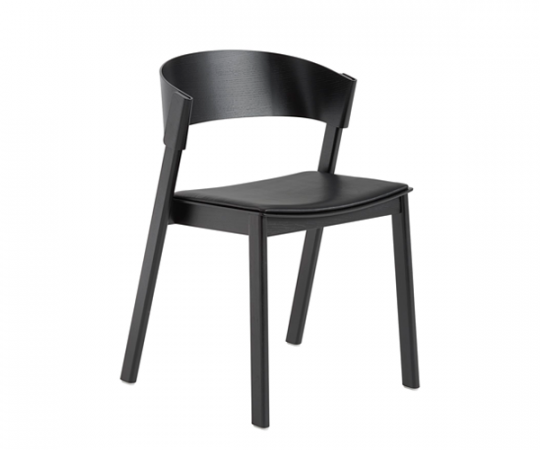Muuto Cover Side Chair - Sort Eg · Sort Læder