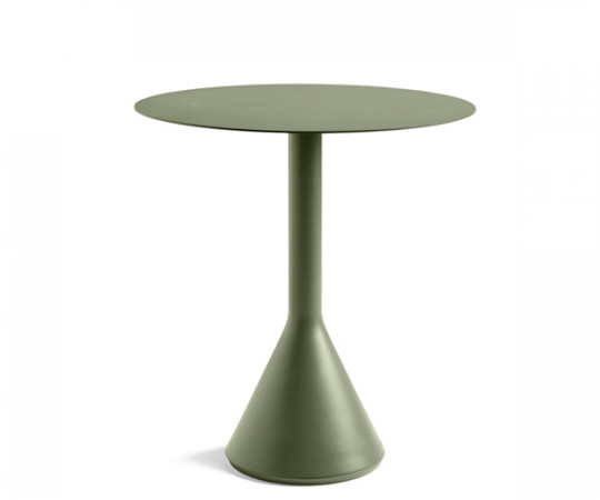HAY Palissade Cone Table - Dia.70cm. - Olive