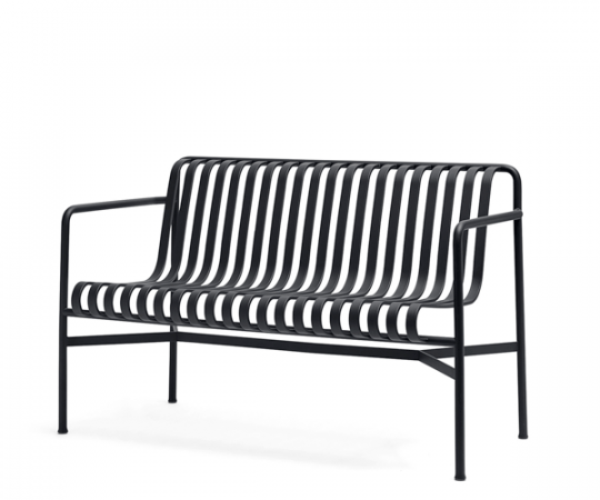 HAY Palissade Dining Bench - Anthracite Grå