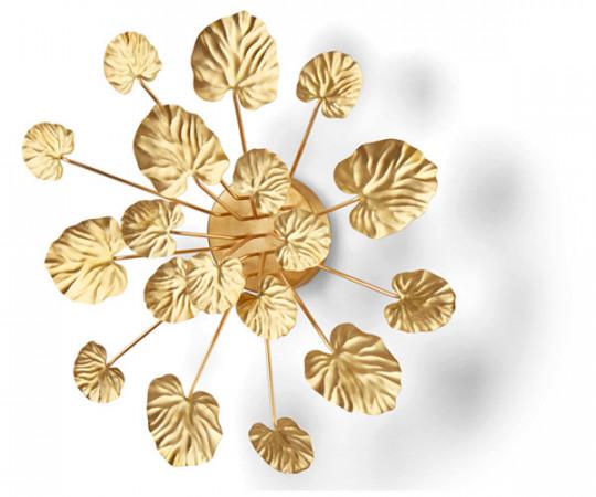 eden outcast wall flower brass small