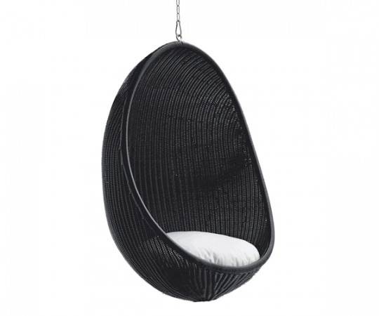 Sika Design Hanging Egg Chair - Udendørs - Sort
