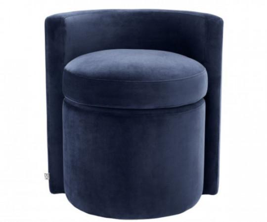puf med ryglæn loungestol velour