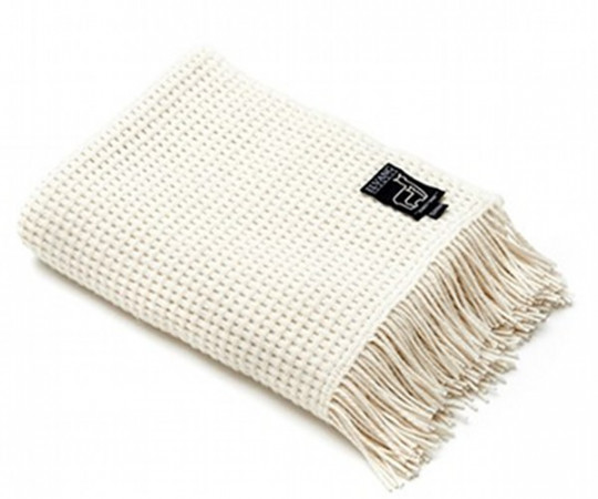 Elvang Basket plaid - Off white