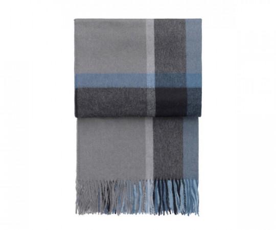 Elvang Manhattan Plaid - Steel Blue/Dusty Ocean