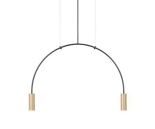 Estiluz Volta Pendel Lampe T3535 - Sort/Guld