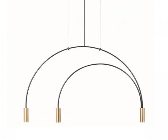 Estiluz Volta Pendel Lampe T3536 - Sort/Guld