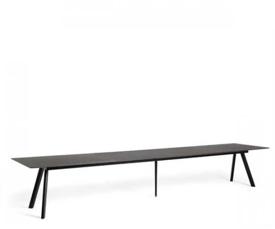 HAY CPH30 Udtræksbord - 200-400x90cm. - Sort Linolium