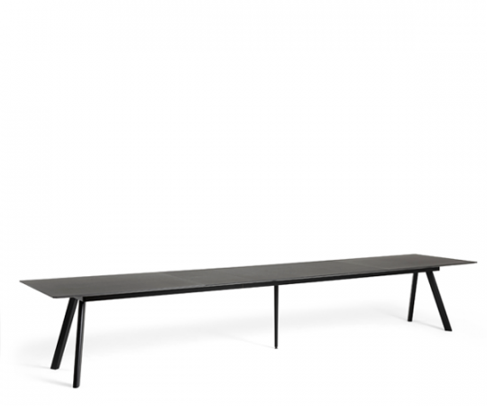 HAY CPH30 Udtræksbord - 250-450x90cm. - Sort Linolium